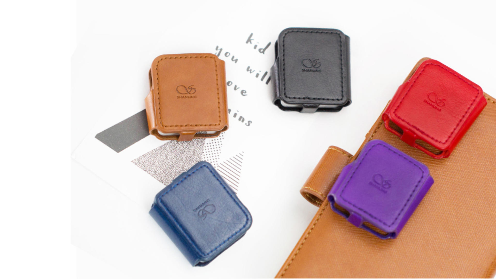 Shanling M0 Case in fünf Farben Lifestyle